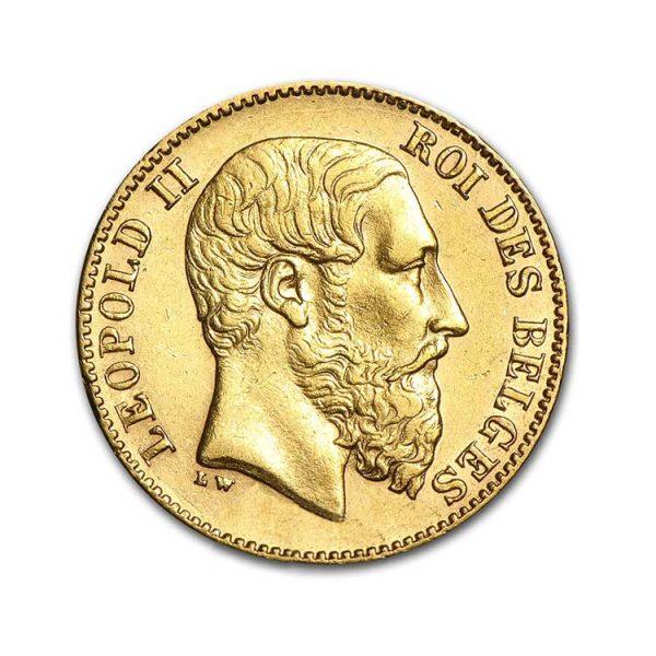 20 Francs Belges - Leopold II - Gold Service - Achat & Vente Or - Boutique en ligne