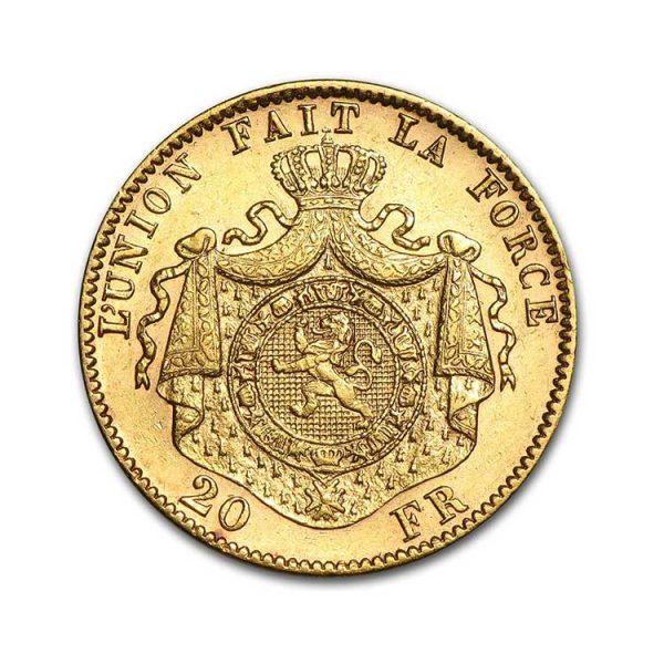 20 Francs Belges - Gold Service - Achat & Vente Or - Boutique en ligne