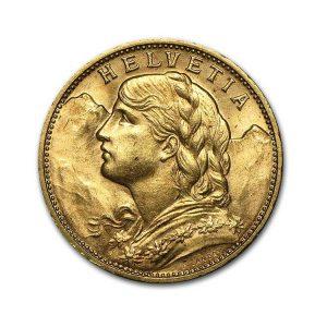 20 Francs Vreneli - Gold Service - Achat & Vente Or - Boutique en ligne