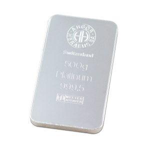 Lingot Platine Argor 500g - Gold Service - Achat & Vente Or - Boutique en ligne