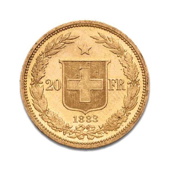 Helvetia 20 Francs - Confédération - Gold Service - Achat & vente OR - Boutique en ligne