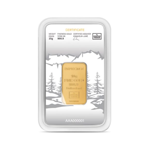 Lingot Or Precinox 10g - Lapoya - Gold Service - Achat & vente OR - Boutique en ligne