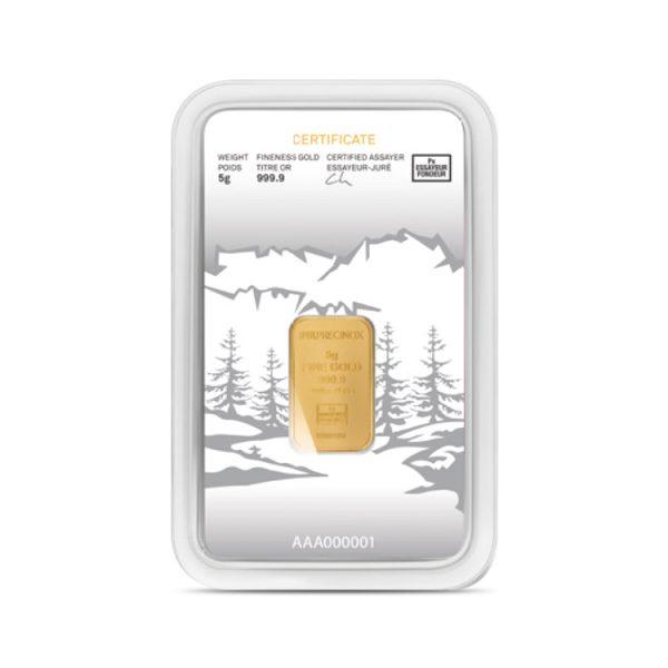 Lingot Or Precinox 5g - Lapoya - Gold Service - Achat & vente OR - Boutique en ligne