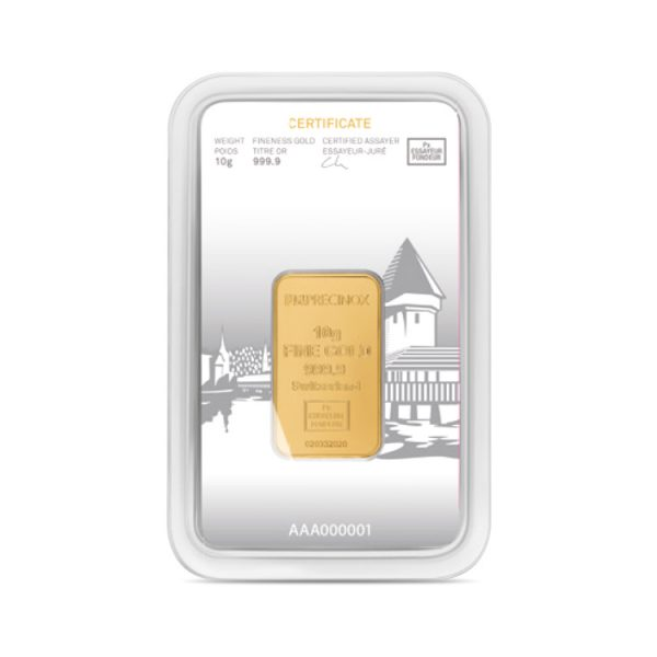 Lingot Or Precinox 10g - Luzern - Gold Service - Achat & vente OR - Boutique en ligne