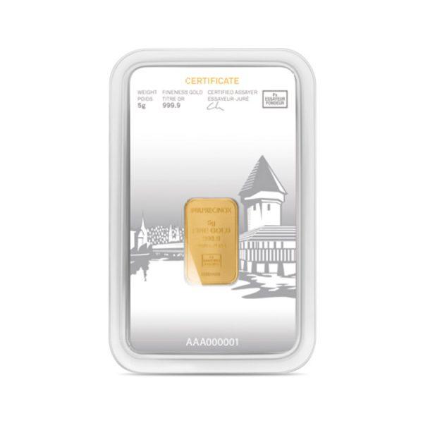 Lingot Or Precinox 5g - Luzern - Gold Service - Achat & vente OR - Boutique en ligne