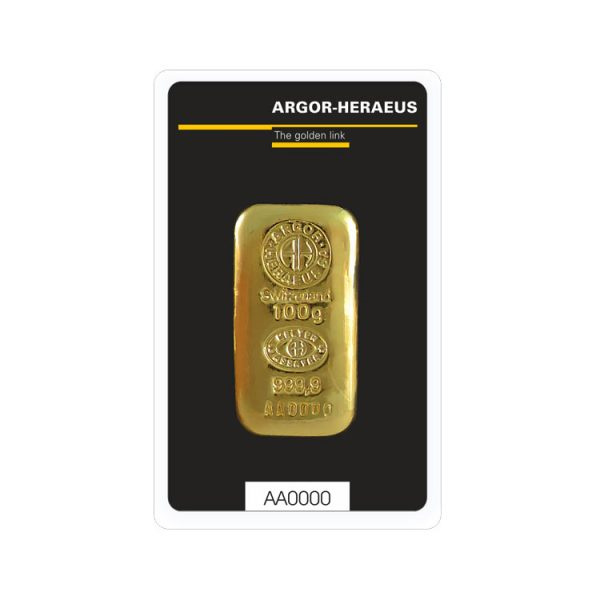 Lingot Or Argor Cast 100g - Gold Service - Achat & vente OR - Boutique en ligne