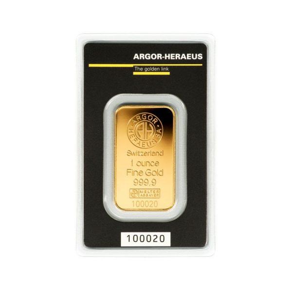 Gold Ingot Argor 1 Oz - Gold Service - Buy & Sell GOLD - Online Shop