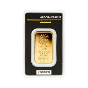 Gold Ingot Argor 20g - Gold Service - Buy & Sell GOLD - Online Shop