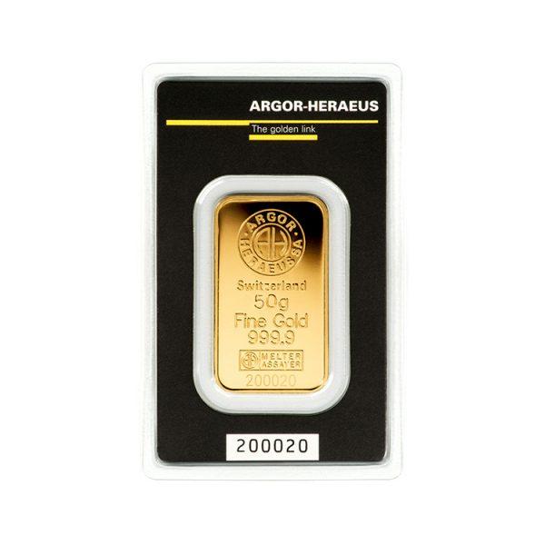 Lingot Or Argor 50g - Gold Service - Achat & vente OR - Boutique en ligne