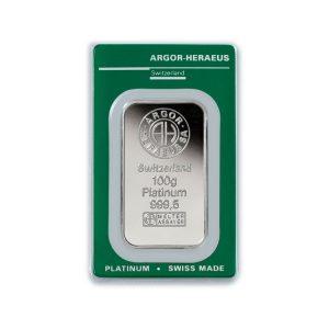 Lingot Platine Argor 100g - Gold Service - Achat & vente OR - Boutique en ligne