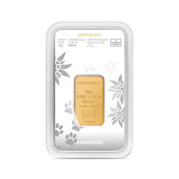 Lingot Or Precinox 10g - Saint Bernard - Gold Service - Achat & vente OR - Boutique en ligne