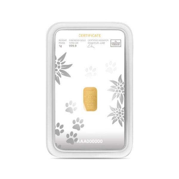 Lingot Or Precinox 1g - Saint Bernard - Gold Service - Achat & vente OR - Boutique en ligne