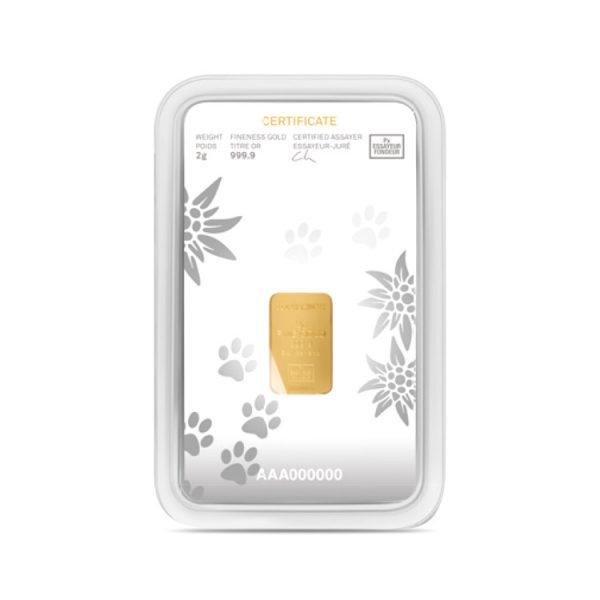 Lingot Or Precinox 2g - Saint Bernard - Gold Service - Achat & vente OR - Boutique en ligne