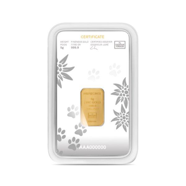 Lingot Or Precinox 5g - Saint Bernard - Gold Service - Achat & vente OR - Boutique en ligne