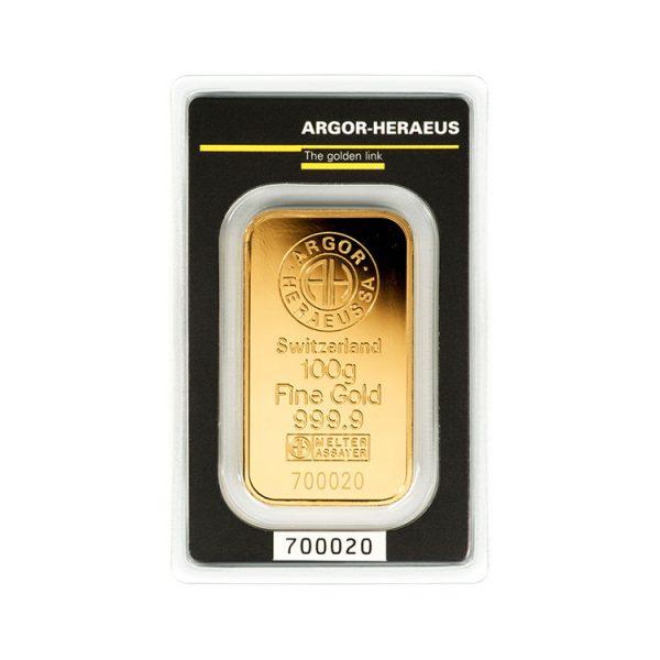 Lingot Or Argor 100g - Gold Service - Achat & vente OR - Boutique en ligne