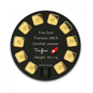 Lingotin Or Argor - 10x1g | Gold Service - Achat Or - boutique en ligne