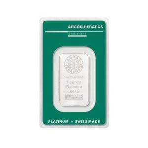 Lingot Platine Argor 1 Oz - Gold Service - Achat & vente OR - Boutique en ligne