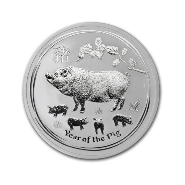 2 Oz Silver Lunar Pig - Gold Service - Achat & Vente Or - Boutique en ligne