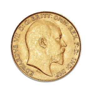 1 Pound Sovereign Edouard VII - Gold Service - Achat & vente OR - Boutique en ligne