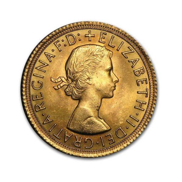 1 Pound Old Sovereign Elisabeth II - Gold Service - Achat & vente OR - Boutique en ligne