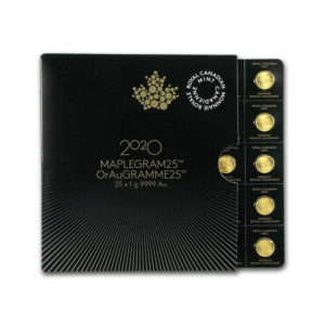 2020 1g (x25) Gold Maple Leafs Maplegram - 1 Oz - Gold Service - Achat & Vente Or - Boutique en ligne