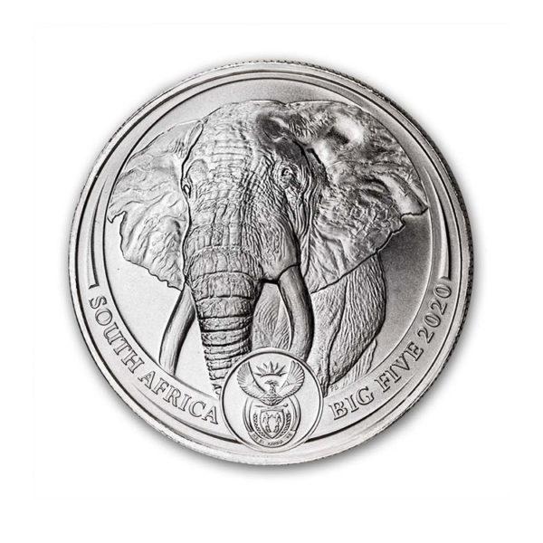 2020 South Africa 1 oz Platinum Big Five Elephant BU - Gold Service - Achat Or - Boutique en ligne