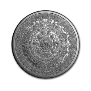 2 oz Silver Aztec Calendar
