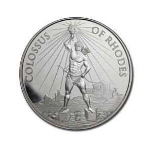 1 oz Silver Round - Colossus of Rhodes (w/Gift Box Tin)
