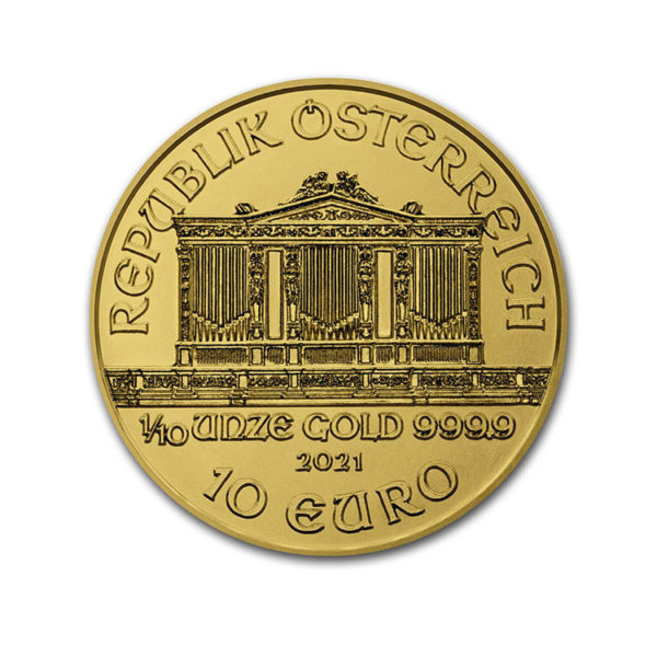 2021 Austria 1/10 OZ Gold Philharmonic