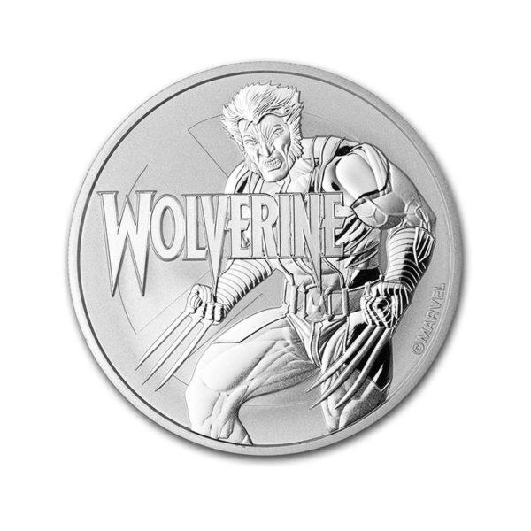 2021 Tuvalu 1 oz Silver $1 Marvel Series Wolverine BU