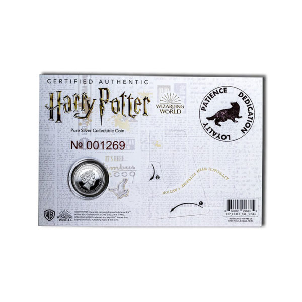 2020 Gibraltar Silver Harry Potter School Crests: Hufflepuff