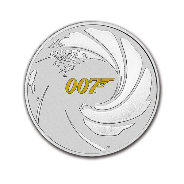 2021 Tuvalu 1 oz Silver James Bond 007 BU