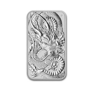 2021 Australia 1 oz Silver Dragon Rectangular Coin BU