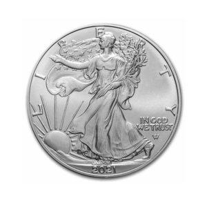 2021 1 oz American Silver Eagle BU (Type 2) Edition Anniversaire
