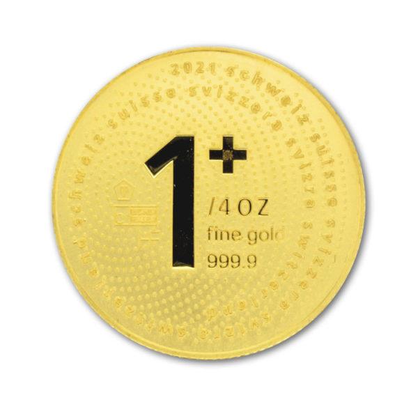 2021 1/4 Oz Gold Swiss One +