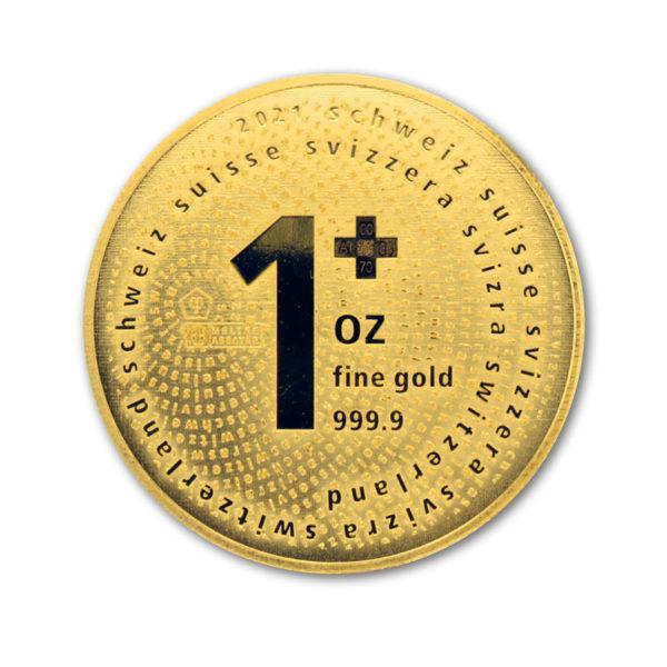 2021 1 Oz Gold Swiss One +