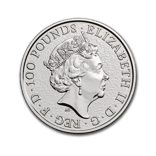 2017 Great Britain 1 oz Platinum Queen's Beasts The Lion