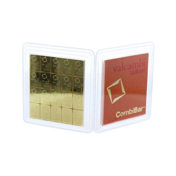 20 x 1 g Gold CombiBar Valcambi