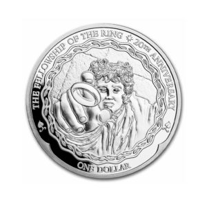 2021 New Zealand 1 oz Silver 20th Anniv Lord of The Rings: Frodo
